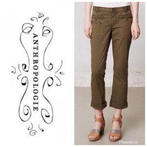 Anthropologie Hei Hei Braided Twill Ankle Size 6